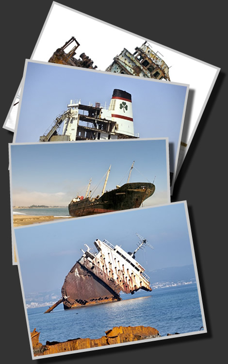 Shipwrecks, Abandoned, Wrecks, Derelict ships, Dead ships, Beached Wrecked